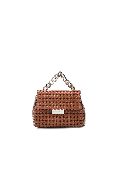 Stella McCartney Mini Beckett Crossbody Bag in Brandy