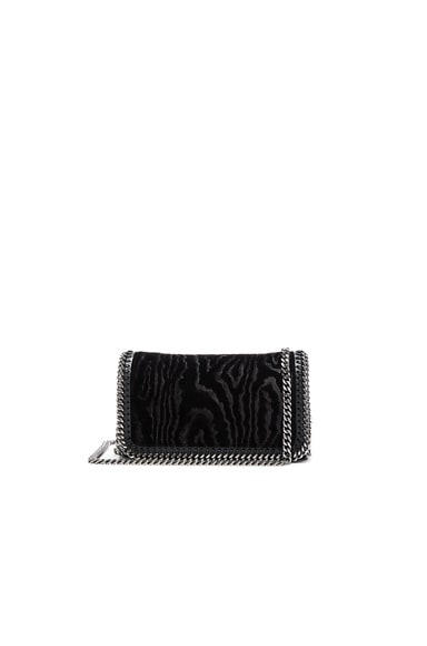 Stella McCartney Velvet Clutch Crossbody in Black