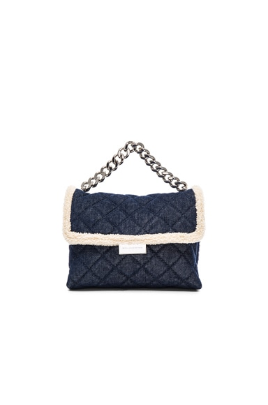 Stella McCartney Quilted Denim Crossbody in Blue