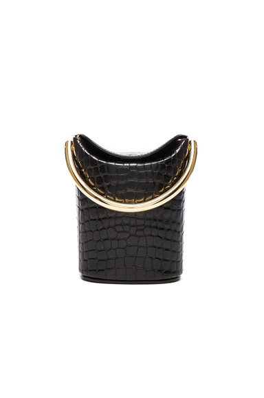 Stella McCartney Alter Croc Bucket Bag in Black