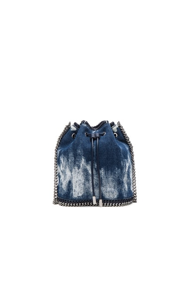 Tie Dye Denim Bucket Bag