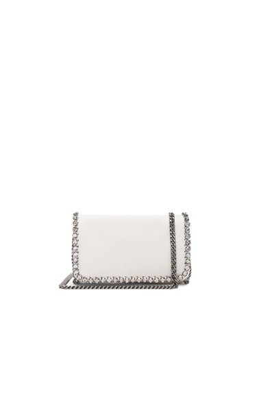 Stella McCartney Shaggy Deer Crossbody Clutch in Chalk