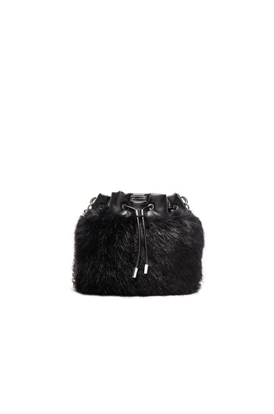Stella McCartney Fur Bucket in Black