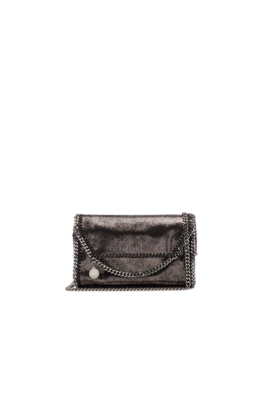 Stella McCartney Falabella Mini Shoulder Fold-Over in Black