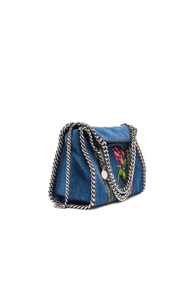 Stella McCartney Falabella Mini Embroidered Tote in Cerulean