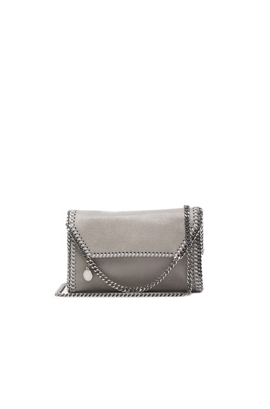 Stella McCartney Falabella Fold Over Crossbody in Light Grey