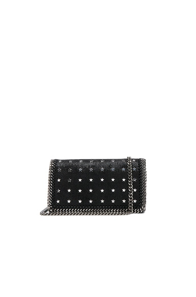 Stella McCartney Falabella Star Print Clutch in Black