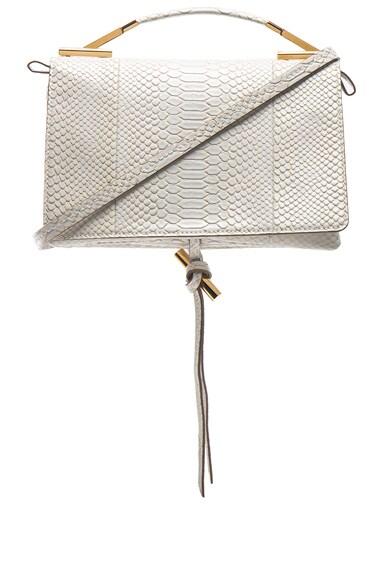 Small Snakeskin Embossed Shoulder Bag