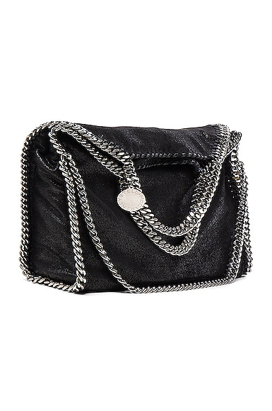 Stella McCartney Falabella Shaggy Deer Small Tote in Black