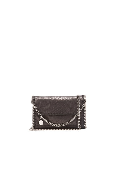 Stella McCartney Falabella Alter Snakeskin Mini Bag in Black