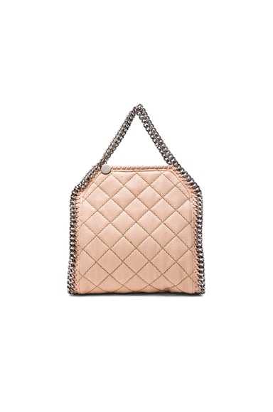 Stella McCartney Falabella Quilted Shaggy Deer Tiny Tote in Blush