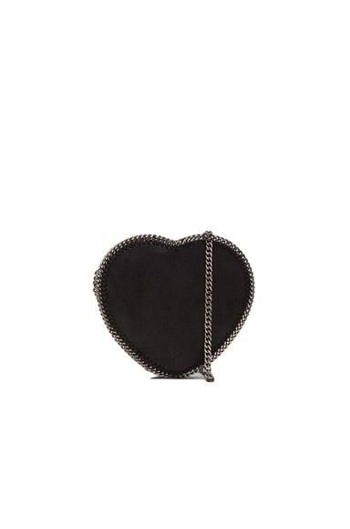 Stella McCartney Falabella Heart Crossbody Bag in Black