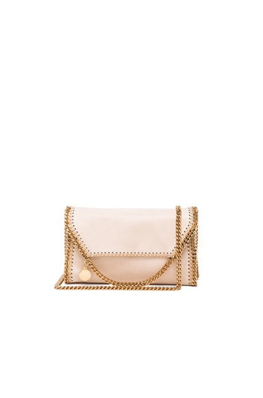 Stella McCartney Falabella Shaggy Deer Mini Bag in Nude