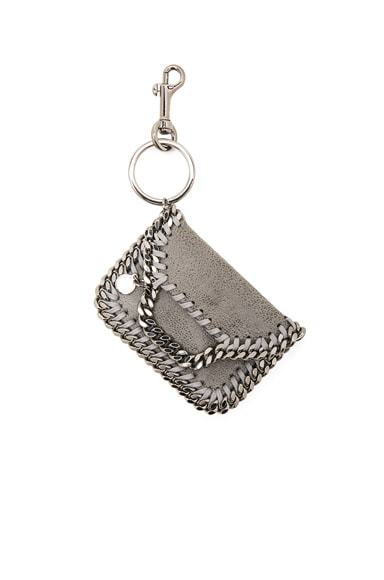 Stella McCartney Falabella Keychain in Light Grey