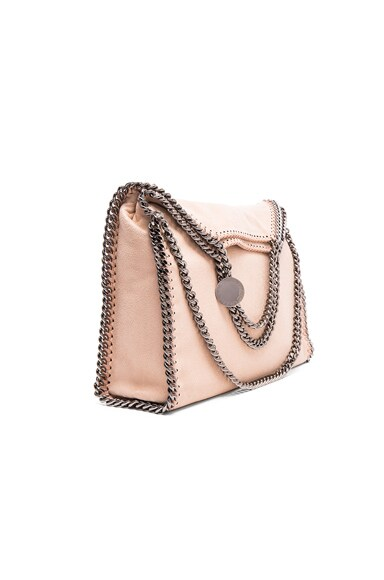 Stella McCartney Falabella Shaggy Deer Fold Over Tote in Powder