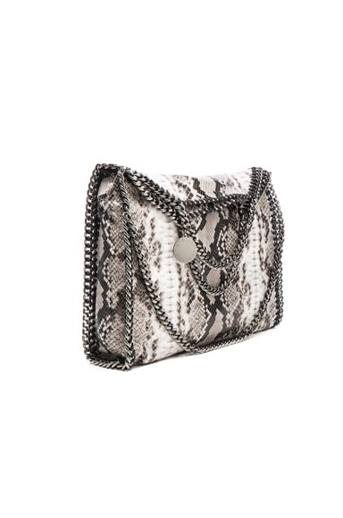 Stella McCartney Falabella Alter Snakeskin Fold Over Mini Tote in Grey
