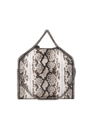 Falabella Alter Snakeskin Fold Over Mini Tote