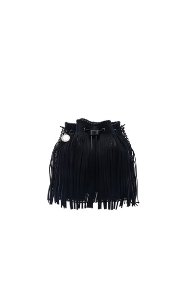 Stella McCartney Fringe Bucket Bag in Black