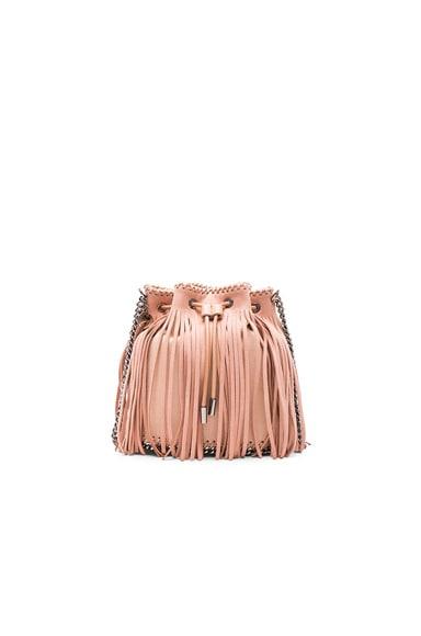 Stella McCartney Fringe Bucket Bag in Powder