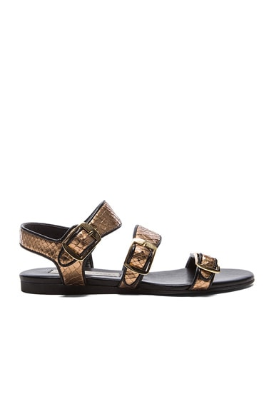 Stella McCartney Strappy Sandals in Bronze Metallic