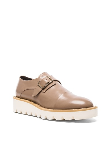 Odette Faux Leather Monk Straps