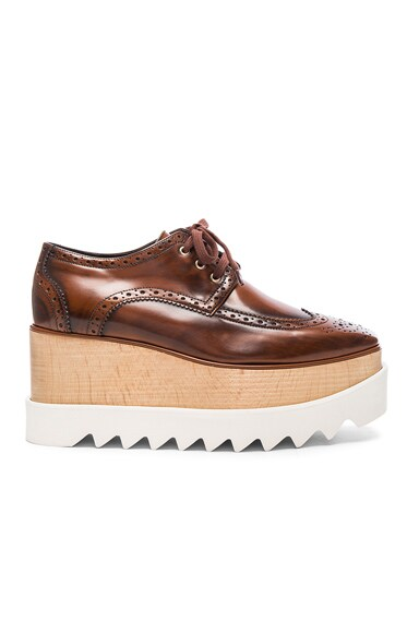 Stella McCartney Elyse Platform Shoes in Mahogany