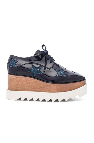 Stella McCartney Elyse Star Platform Shoes in Night Blue