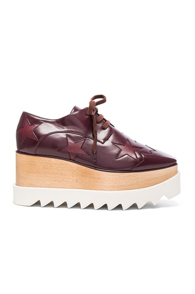 Stella McCartney Elyse Star Platform Shoes in Bordeaux & Plum