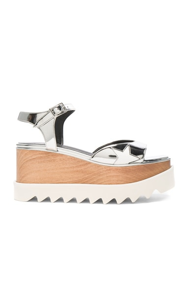 Stella McCartney Platform Sandals in Indium & White
