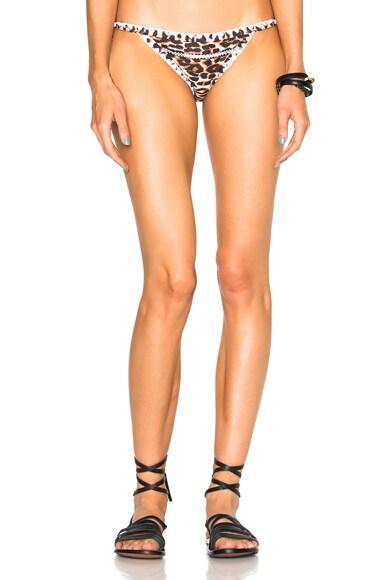 Same Swim Tease Tie Side Bikini Bottom in Cheetah