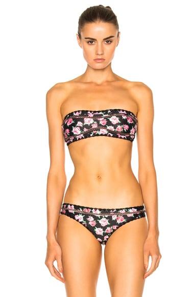 Same Swim Babe Bandeau Bikini Top in Floral