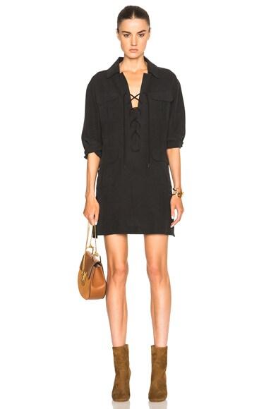Smythe Tunic Dress in Black Fade