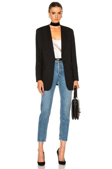 Skinny Lapel Blazer Jacket