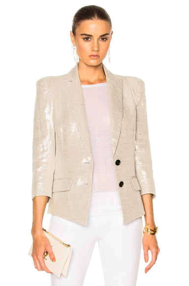 Smythe Pagoda Blazer Jacket in Metallic