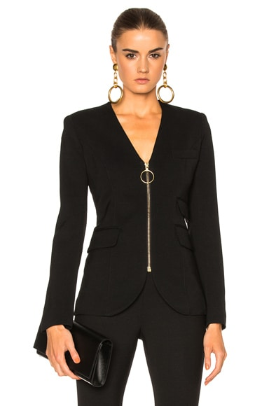 Collarless Blazer Jacket