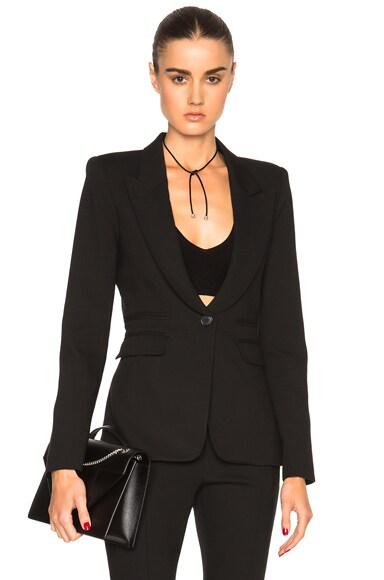 Smythe Peaked Label Blazer in Black