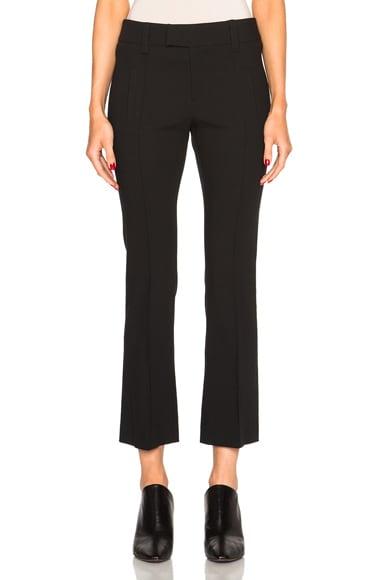 Smythe Cropped Flare Pants in Black