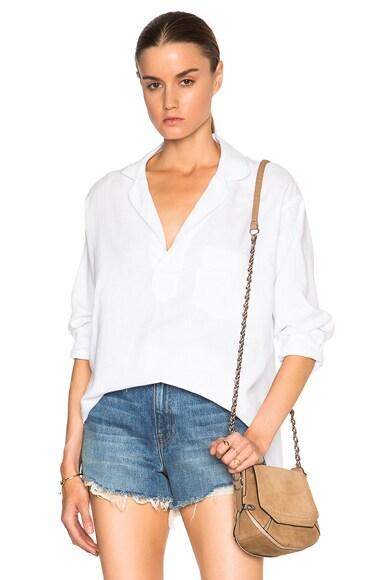 Smythe Pajama Top in White