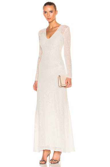 Sandra Mansour Perle Dress in White