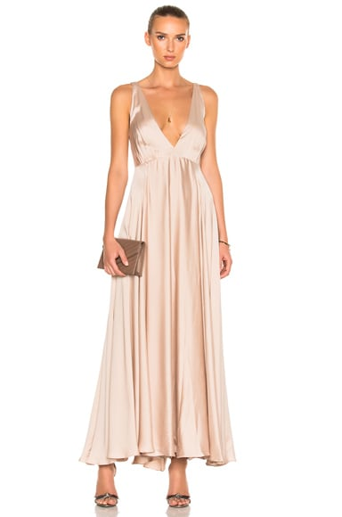 Sandra Mansour Couronne Solaire Dress in Taupe