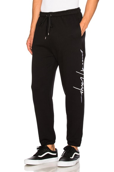 Second/Layer Script Logo Sweatpants in Black