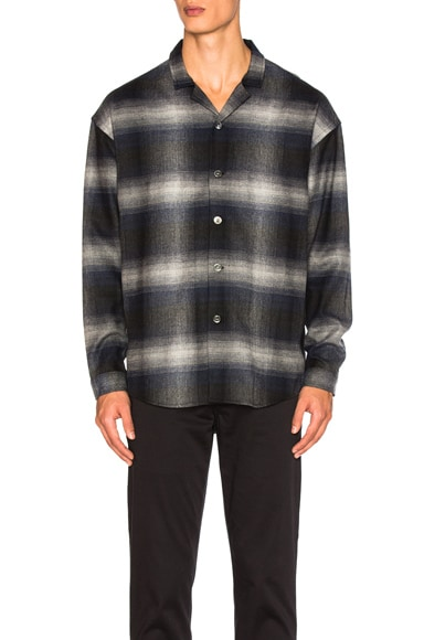Second/Layer Camp Collar Oversize Shirt Jacket in Hombre