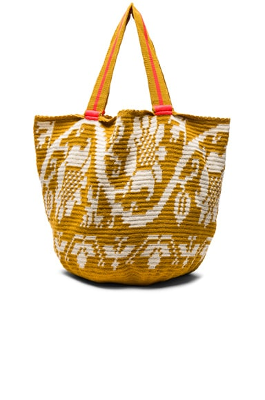 Sophie Anderson Jonas Floral Tote in White Mustard Floral