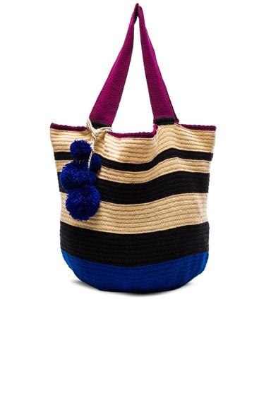 Sophie Anderson Jonas Bag in Blue Stripe