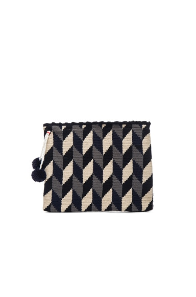 Sophie Anderson Lia 4 Clutch in Neutral Zig Zag