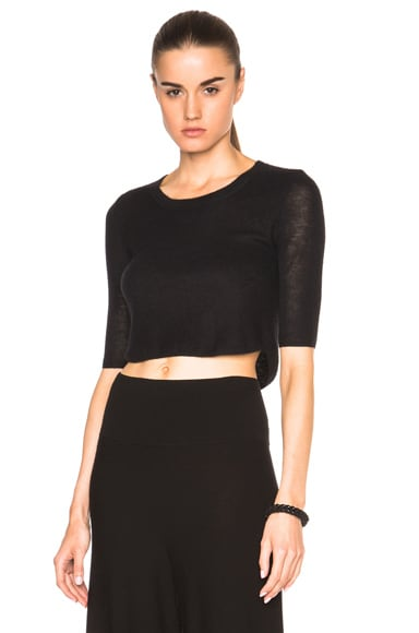Soyer Cashmere Crop Top in Black