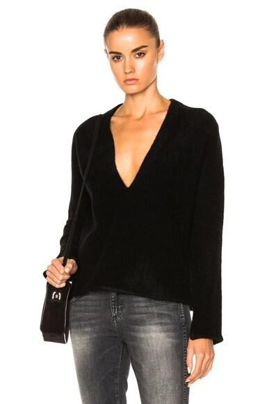 Soyer Deep V Sweater in Black