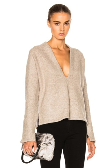 Soyer Deep V Sweater in Oyster