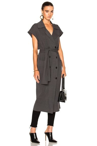 Soyer Marge Sleeveless Trench Coat in Pewter