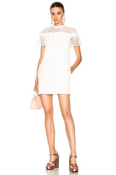 Mixed Floral Frill Mini Dress